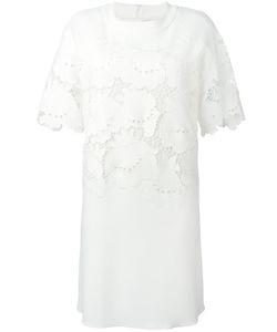 Victoria, Victoria Beckham | Victoria Victoria Beckham Embroidered Detail Dress 40 Silk/Polyester/Spandex/Elastane