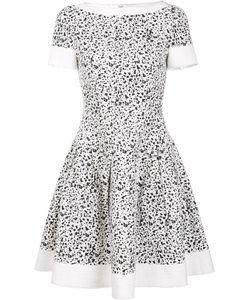 Carolina Herrera | Splatter Paint Print Dress 10 Cotton