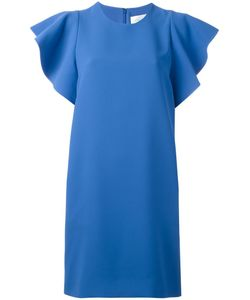 Victoria, Victoria Beckham | Victoria Victoria Beckham Flounce Sleeve Dress Size 10 Silk/Polyester
