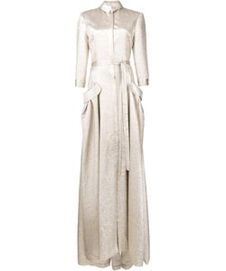 Carolina Herrera | Lamé Trench Gown 12 Silk Fibre