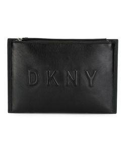 DKNY | Embossed Logo Clutch Leather