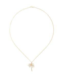 ROSA DE LA CRUZ | Diamond Encrusted Palm Tree Pendant Necklace