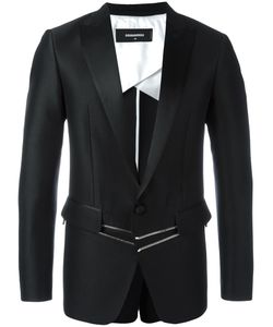Dsquared2 | London Tux Zipped Jacket 48 Silk/Wool