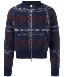 Thom Browne | Checked Knit Bomber Jacket 3 Polyester/Wool/Cashmere