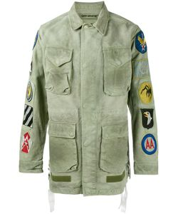 OFF-WHITE | Patch Embellished Field Jacket Large Cotton