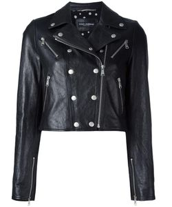 Dolce & Gabbana | Cropped Leather Jacket 38 Goat