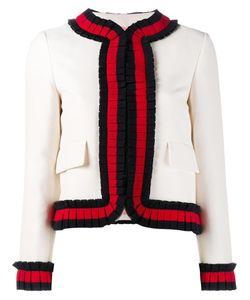 Gucci   Cropped Web Trim Jacket 42 Silk/Cotton/Wool/Silk