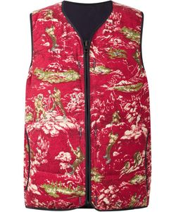 Visvim | Printed Vest 4 Cotton/Goose Down