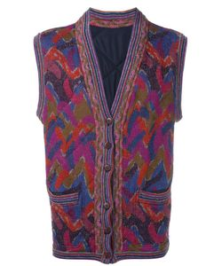 MISSONI VINTAGE | Reversible Knitted Waistcoat Xl