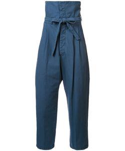 Loewe   High Waisted Loose Pants 42 Cotton