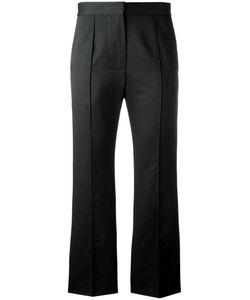 Marni | Cropped Straight Leg Trousers 42 Cotton/Linen/Flax
