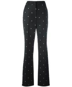 SportMax | Polka Dots Print Trousers 46 Polyester/Spandex/Elastane/Virgin Wool