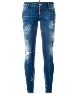 Dsquared2 | Flare Distressed Stonewash Jeans 44 Cotton/Spandex/Elastane
