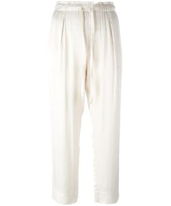 Raquel Allegra | Liquid Satin Drawstring Cropped Trousers 1