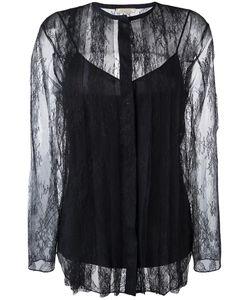 Nina Ricci | Striped Lace Blouse 40 Silk/Viscose/Polyamide