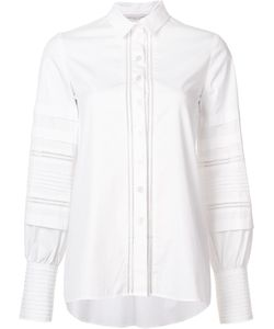 Carolina Herrera   Button Down Blouse 14 Cotton/Polyurethane