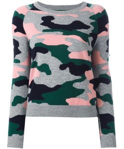 Chinti And Parker | Camouflage Intarsia Jumper Xs Cashmere/Wool