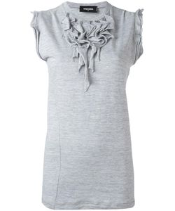 Dsquared2 | Ruffled Neck Blouse Xs Cotton/Viscose