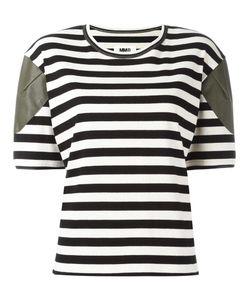 MM6 by Maison Margiela   Mm6 Maison Margiela Striped T-Shirt Small Cotton/Spandex/Elastane/Polyurethane/Viscose