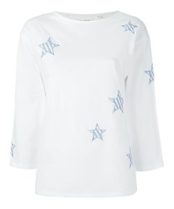 Chinti And Parker | Stars Appliqué T-Shirt Medium Cotton