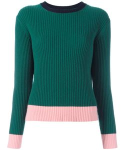 Chinti And Parker | Ribbed Colour Block Jumper Medium