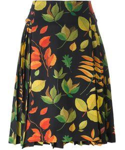 Arthur Arbesser | Leaf Print A-Line Skirt 40 Polyester/Spandex/Elastane/Viscose