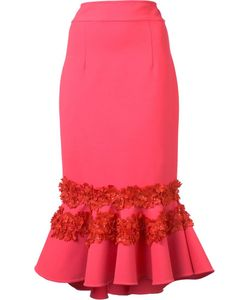 Carolina Herrera | Embroide Ruffle Skirt 0 Virgin