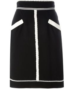 Chanel Vintage | Monochrome Pencil Skirt 40