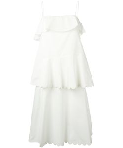 See By Chloe | See By Chloé Scalloped Tiered Dress 40 Cotton