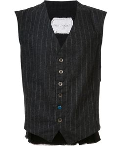 GREG LAUREN   Striped Vest 3 Wool/Silk/Rayon