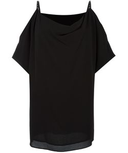 Michael Michael Kors | Draped Off-Shoulder Blouse Small Polyester/Spandex/Elastane