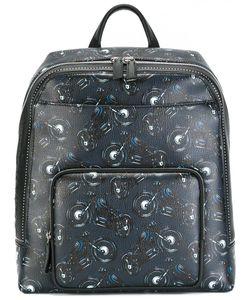 Salvatore Ferragamo | Motorcycle Print Backpack Calf Leather