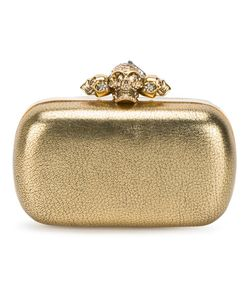 Alexander McQueen | Piercing Skull Clutch Leather/Glass/Brass