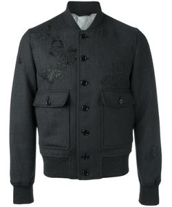 Alexander McQueen | Moth Embroidered Bomber Jacket 48 Wool/Cotton/Viscose
