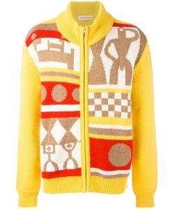 WALTER VAN BEIRENDONCK VINTAGE | Walter Van Beirendonck Intarsia Pattern Cardigan Small Mohair/Wool/Polyamide