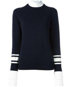 Victoria, Victoria Beckham | Victoria Victoria Beckham Contrast Cuff Jumper 12 Cotton/Wool