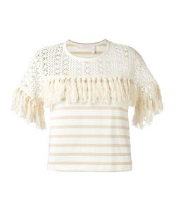 See By Chloe | See By Chloé Fringed T-Shirt Medium Cotton