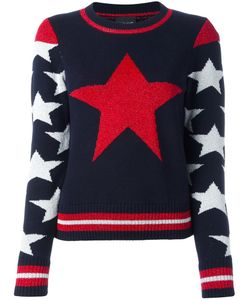 Just Cavalli | Star Intarsia Jumper Xs Cotton/Viscose/Polyamide/Polyester