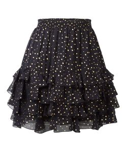 Just Cavalli | Dotted Print Skirt 42 Silk/Viscose