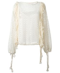 See By Chloe | See By Chloé Fringed Crochet Top 34 Viscose/Polyester/Cotton
