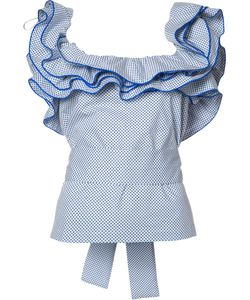 Rosie Assoulin | Ruffled Collar Blouse Small Cotton