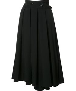 Y'S | Pleats Wrap Skirt 2 Wool
