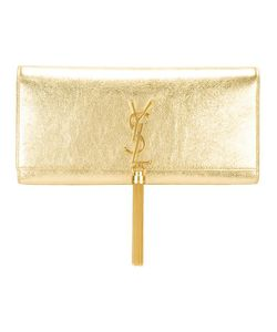 Saint Laurent | Monogram Tassel Clutch Calf Leather