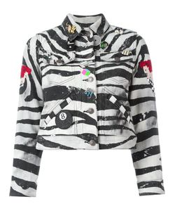 Marc Jacobs | Zebra Print Shrunken Jacket Xl Cotton