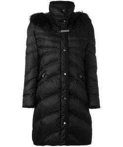 Baldinini | Zipped Midi Parka Coat 46 Polyamide/Feather Down/Racoon