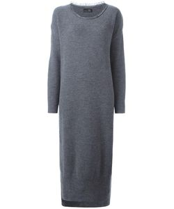 Y'S | Round Neck Knit Dress Small Nylon/Wool
