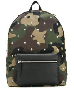 Alexander McQueen | Skull And Camouflage Backpack Polyamide/Leather