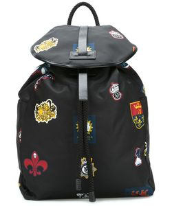 Alexander McQueen | Badge Print Backpack Leather/Nylon