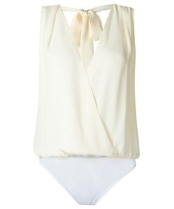 ANDREA MARQUES | Wrap Bodysuit 40 Silk