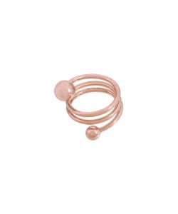 MARIA BLACK | Body Double Spiral Ring 56